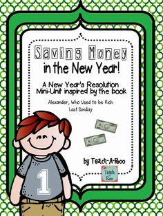 Inspired by the book, Alexander Who Used to Be Rich Last Sunday, I like to start off the new year by teaching a little mini-unit on saving money. We talk about setting money goals and why people save money. We also talk about ways kids can earn money. Creative Teaching, Teaching Math, Teaching Resources, Creative Writing, Classroom Management Tips, Literacy Activities, Money Activities, Reading Intervention, Never Too Late