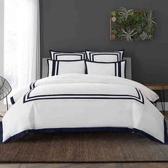 Wamsutta® Hotel Border MICRO COTTON® Duvet Cover Set | Bed Bath & Beyond