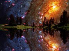 Cosmic lake.