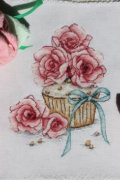 VK is the largest European social network with more than 100 million active users. Cupcake Cross Stitch, Cross Stitch Fruit, Cross Stitch Kitchen, Cute Cross Stitch, Cross Stitch Rose, Cross Stitch Flowers, Embroidery Hoop Art, Cross Stitch Embroidery, Embroidery Patterns