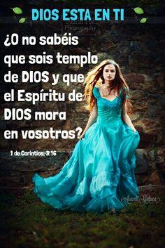 1 de Corintios, 3:16 - ¿O no sabéis que sois templo de Dios, y que el Espíritu de Dios mora en vosotros?