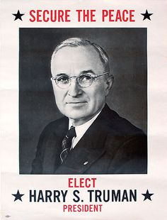 Poster Promoting Harry Truman (D) for President, United States, 1948