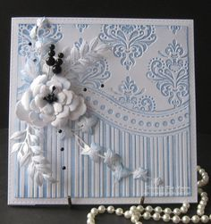 Wedding Card Design Embossing Folder Ideas For 2019 Wedding Card Design, Wedding Cards, Wedding Programs, Tattered Lace Cards, Spellbinders Cards, Embossed Cards, Marianne Design, Heartfelt Creations, Pretty Cards