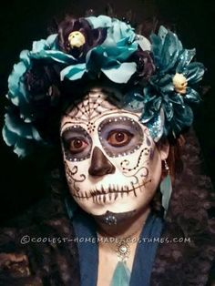 Homemade Day of the Dead Couple Costume... Coolest Halloween Costume Contest