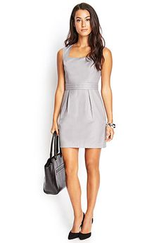 Pleated Square Neck Dress | FOREVER 21 - 2000104853