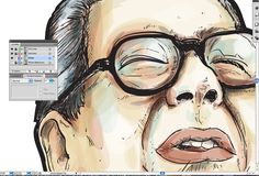 Make Watercolor and Marker Style Portraits with Illustrator by Miguel Cardona. COOL.