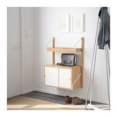 IKEA - SVALNÄS, Kombinacja szafek wiszących, , Ukryj lub wyeksponuj rzeczy łącząc zamknięte i otwarte formy przechowywania.Półki o różnej głębokości i szerokości sprawią, że znajdzie się miejsce na wszystko: od błyskotek po książki.Drzwi przesuwne pozwalają ukryć lub wyeksponować przechowywane rzeczy, a dodatkowo nie zajmują miejsca po otwarciu.