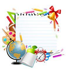 "Photo from album ""Школьные принадлежности"" on Yandex. Kindergarten Math Worksheets, Preschool Activities, Quiet Book Templates, Page Borders Design, School Coloring Pages, Kids Background, School Frame, School Labels, Wreath Drawing"