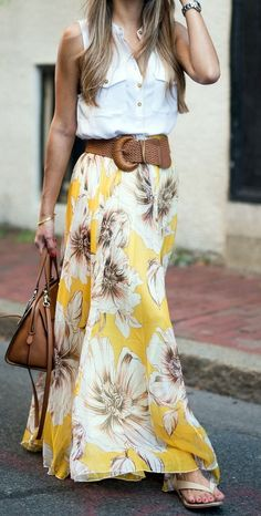 maxi skirt isn't jersey material so more flowing