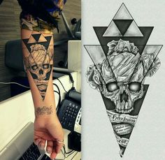 Skull and Triforce