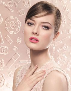 Chanel spring makeup 2013  This is a beautiful make up look. I love the lip color.