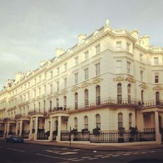The prestigious Prince of Wales Terrace in #Kensington, #London. Additional benefits of living here include: concierge service, access to a nearby 2.5 acre private garden and use of nearby gymnasium and sauna.    #Property #RealEstate