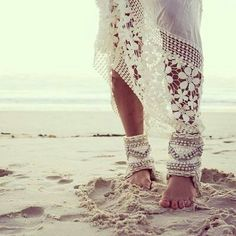 urbanNATURES Beach Style: White Crochet Coverup