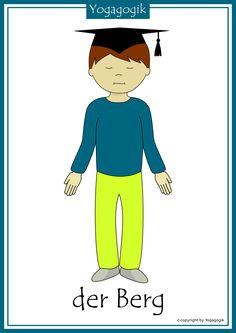 Children Yoga index cards mountain – school year – # index cards … - Kinderspiele