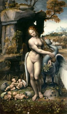 Leonardo da Vinci - Leda with the swan
