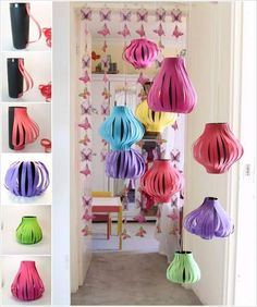 DIY paper lanterns tutorials and best ideas. Decorate paper lanterns with glitter, doilies, paint and more. Decorate kids room, nursery, parties using DIY Chinese New Year Activities, Chinese New Year Party, Chinese New Year Crafts, New Years Activities, New Years Party, New Year's Crafts, Crafts For Kids, Paper Crafts, Holiday Crafts