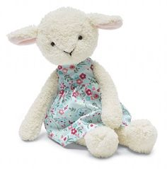 floral friends lucy lamb ~ by jelly cat
