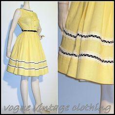 1950s Vintage Gingham Dress