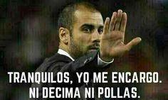 Guardiola lanza un mensaje de ánimo a los barcelonistas en el descanso