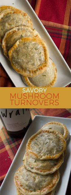 Mushroom Turnovers — insolence + wine These savory mushroom turnovers are the perfect appetizer to welcome holiday guests into your home with. These savory mushroom turnovers are the perfect appetizer to welcome holiday guests into your home with. Think Food, Love Food, Vegan Recipes, Cooking Recipes, Vegetarian Mushroom Recipes, Cooking Pork, Cooking Games, Pasta Recipes, Vegetarian Tapas