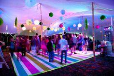 #neon #lumo #dancefloor #bat-mitzvah #www.eventsandtents.co.za Bat Mitzvah Party, Sixteenth Birthday, 30th Birthday, Background Diy, Glow Party, Diy Bar, Outdoor Parties, Neon, Diy Home Crafts