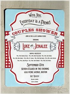 S Shower Picnic Invitation Vintage And Sweet But Not Too Cutesy I Always