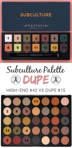 Who doesn't love finding a dupe? Check out the comparison of an affordable palette to see if it could be an Anastasia Beverly Hills Subculture palette dupe!