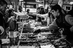 Leiden market on a Saturday, Netherlands