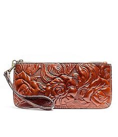 Patricia Nash Tooled Rose St. Croce Wristlet