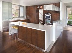Modern Clarity - Home & Design Magazine Kitchen Colors, Kitchen Decor, Kitchen Design, Kitchen Ideas, Kitchen Flooring, Kitchen Countertops, Blue Kitchen Cabinets, Small Kitchen Layouts, Home Design Magazines