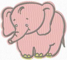 Baby Elephant free machine embroidery design. Machine embroidery design…
