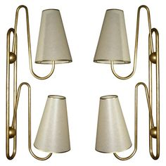 Jean Michel Royere is by far one of my favorite iconic designers... I am particularly in love with these sconces...     1stdibs   Two 1950s Sconces by Jean Royere $21,000.00