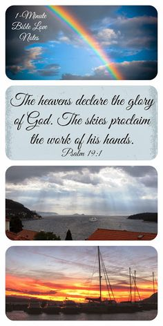 He heavens declare the glory of God....Are you listening? This 1-minute devotion encourages you to listen.