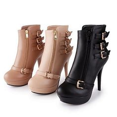 Women's Stiletto Heel Ankle Fashion Boots(More Colors) - USD $ 34.29