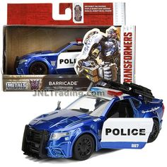 Jada Year 2017 Transformers The Last Knight Series 1:32 Scale Die Cast Metal Cars - BARRICADE (Police Cruiser) with Opening Doors Transformers Collection, Transformers Toys, Last Knights, Metal Casting, Jada, Interior And Exterior, Diecast, Robot, Police