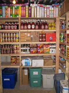 Year supply diy pantry.   Using couponing, bulk staple items, etc