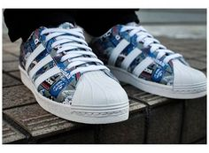 Adidas Originals SUPERSTAR 80´s Pioneers by NIGO (blanco/crema/multicolor)