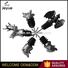 Low Price widely used in olive oil and wine custom deer head animals wine pourer Olives, Wine Pourer, Stag Head, Bar Accessories, Olive Oil, Deer, Metal, Promotion, Animaux