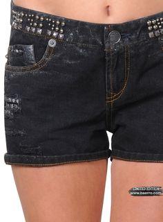 Torleo Studded Baerro shorts  #baerro                                 #FashionTrendandDesignStudio