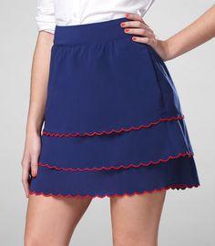 Tulle Scalloped Edge Skirt