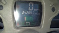 On March 22nd, 2013 I turned on the battery pack for the first time and the dash came alive for the first time since I owned the GEM.  It showed the actual mileage of this vehicle as 64,288 miles for a 2008 e6 GEM.  That was in incredible number for me to comprehend.  I had never expected that a 25 miles per hour electric vehicle could rack up that many miles since '08.  It also meant that I would find MANY more things that needed to be repaired due to that much travel!