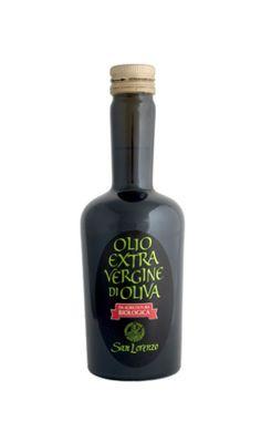 Etichetta olio - sfondo nero