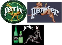 Perrier & les pin-up. En 2010 Perrier s'offre les services de le reine du burlesque et de l'éffeuillage Dita Von Teese. Les pin-ups et filles sexy ont toujours étés associés à l'image de marque de Perrier. Mais l'association de la star à la marque fut un coup de pub mémorable #perrier #pinup #retro #sexy