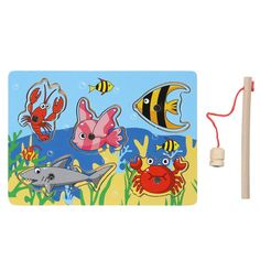 Wooden Magnetic Fishing Puzzle