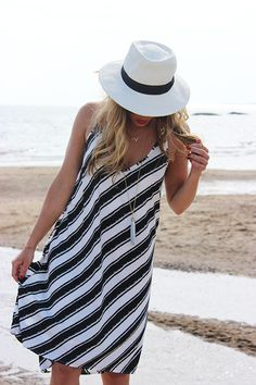 Style Cusp // wearing H&M Dress + Target Panama Hat (on sale!!)