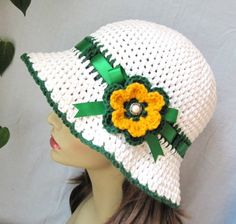 Sombreros tejidos a gancho - Imagui
