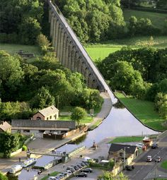 Situated in north-eastern Wales, the 18 kilometre long Pontcysyllte Aqueduct and Canal is a feat of civil engineering of the Industrial Revolution, completed in the early years of the 19th century. Covering a difficult geographical setting, the building of the canal required substantial, bold civil engineering solutions, especially as it was built without using locks.