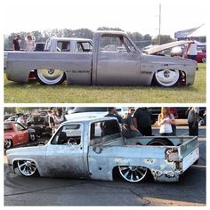 Couple of cool square body C10's in action