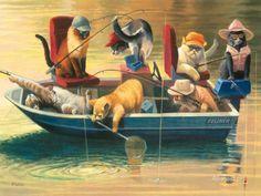 Gone Fishing Giclée-Druck von Bryan Moon bei AllPosters.de