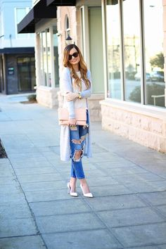 Long Layers + Destroyed Denim on For All Things Lovely
